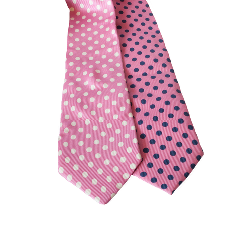 Gallery equine and Show Stoppers pink polkadot ties