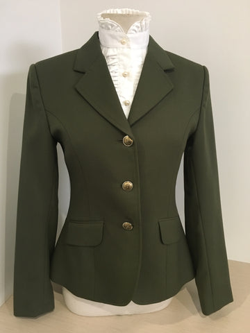 Olive wool Riding jacket ladies 10