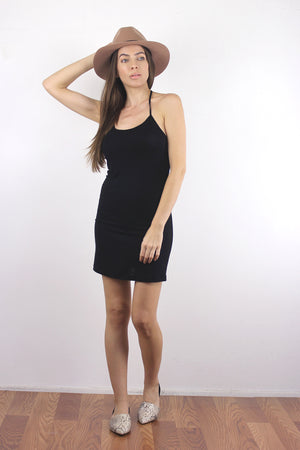 Black mini dress slip.