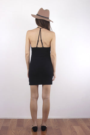 Black mini dress slip. 3