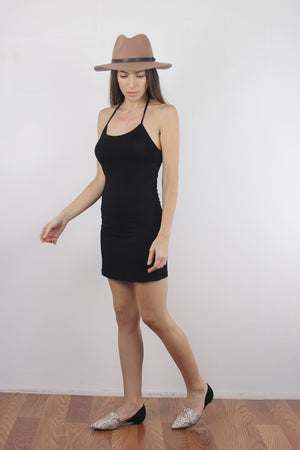 Black mini dress slip. 2