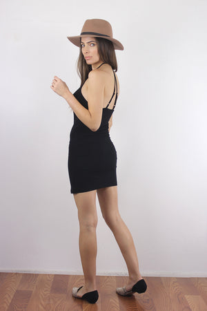 Black mini dress slip. 1