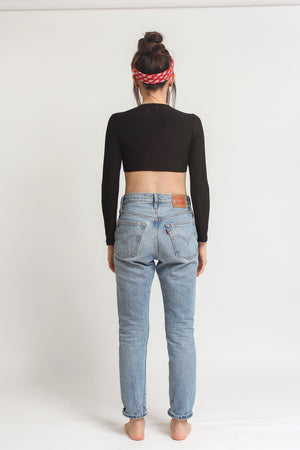 Bodysuit with cutout back, in Black. Image 6