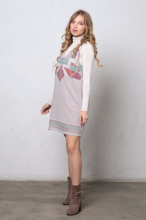 Embroidered jumper dress. Image 2