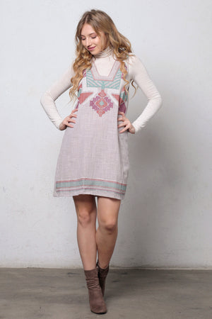 Embroidered jumper dress. Image 3