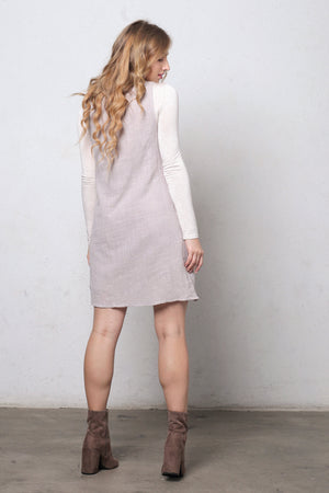 Embroidered jumper dress. Image 4