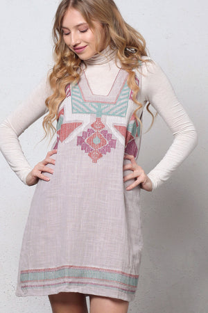 Embroidered jumper dress. Image 5
