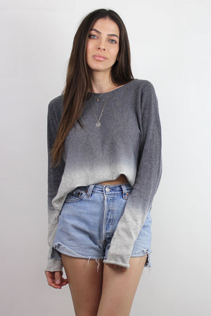 Ombré Sweater, in Grey. Image 2