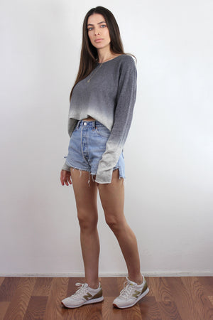 Ombré Sweater, in Grey. Image 4