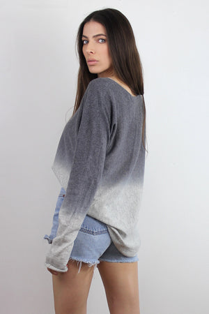 Ombré Sweater, in Grey. Image 5