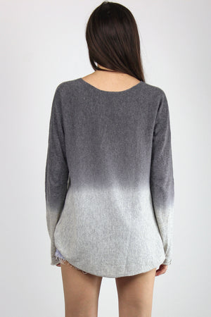 Ombré Sweater, in Grey. Image 6