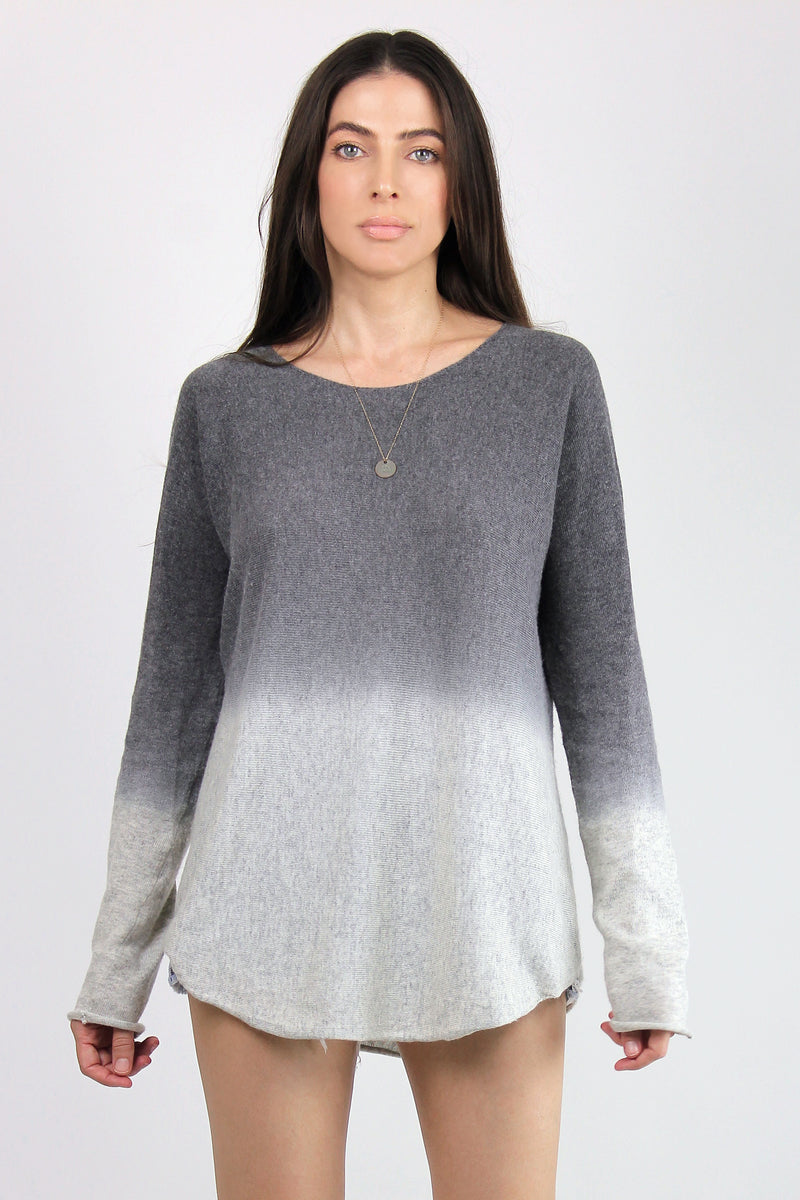 Ombré Sweater, in Grey. Image 7