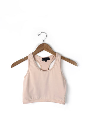 Nude racer back sports bra top.