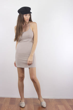 Taupe mini dress slip.