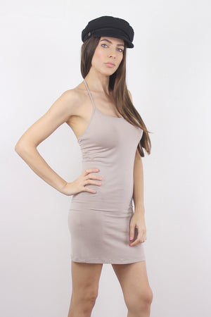 Taupe mini dress slip. 2