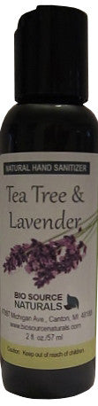 Tea Tree & Lavender Natural Hand Cleaner 2 fl oz (60 ml)