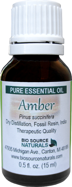 Amber Essential Oil - 0.5 fl oz (15 ml)