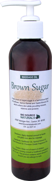 Brown Sugar Massage Oil 8 fl oz (227 ml)