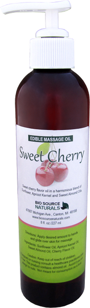 Edible Sweet Cherry Massage Oil 8 fl oz (227 ml)