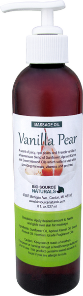 Vanilla Pear Massage Oil 8 fl oz (227 ml)