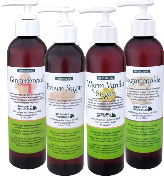 Sugar Collection Massage Oils 8 fl oz (227 ml) 4 Pack