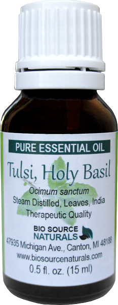 Tulsi, Holy Basil Essential Oil - 4 fl oz (120 ml)