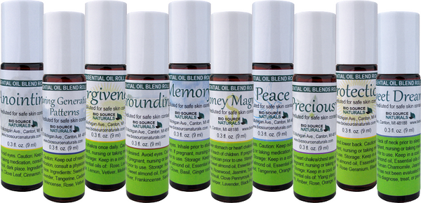 Success Set of 10 Essential Oil Blend Roll Ons - 0.3 fl oz (9 ml) each