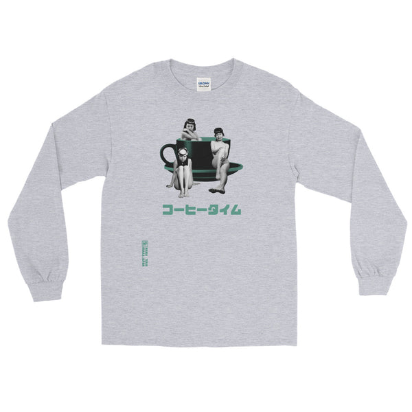 Coffee Time With The Amasan Diving Girls Long Sleeve Shirt [more colors available]