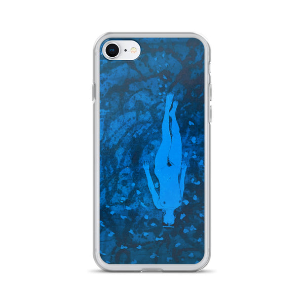 Japanese Diving Girl [Etching] - Art Series iPhone Case