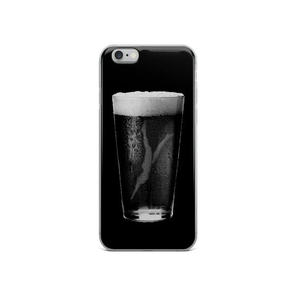 Black Beer Diving Girl iPhone Case