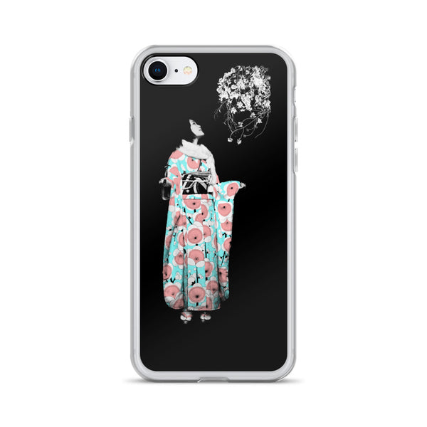 Cherry Blossoms & Furisode iPhone Case