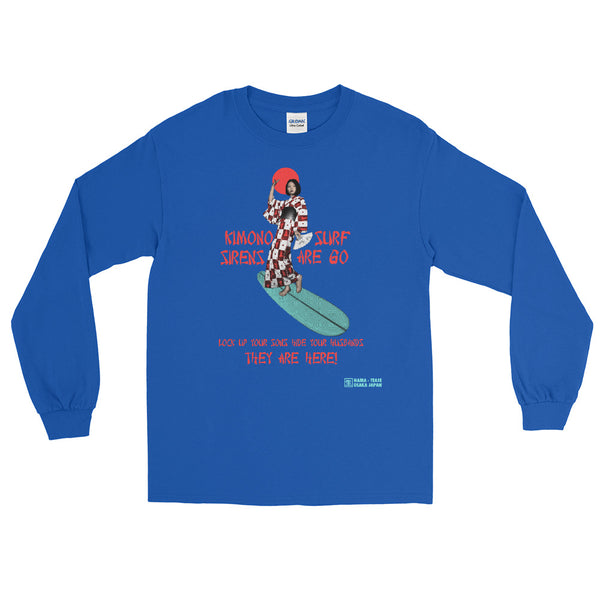 Kimono Surf Sirens Are Go! Long Sleeve T-Shirt [more colors available]
