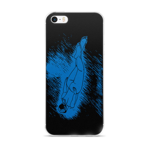 Amasan Japanese Diving Girl iPhone Case