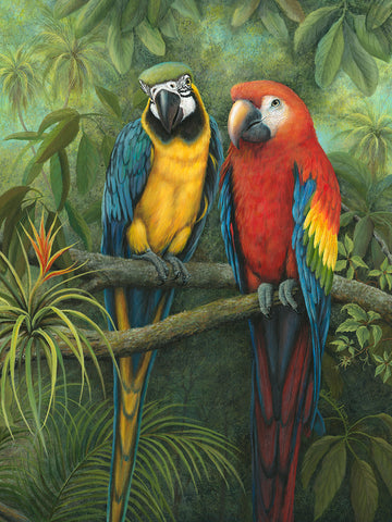 Vertical Parrots- by Erma Jean pa029