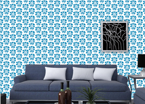 Flowers Allover Wallpaper- Floral Wall Mural prt0054