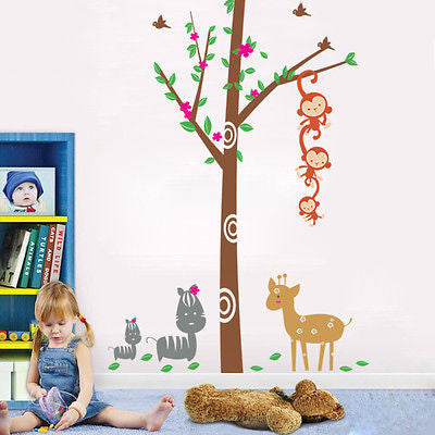 Woodland - 102in H -  Beautiful Tree Wall Decals for Kids Rooms Teen Girls Boys - PopDecors,Decals, Stickers & Vinyl Art, Pop Decors, PopDecors