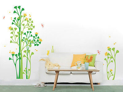 Peaceful Garden - Beautiful Tree Wall Decals for Kids Rooms Teen Girls Boys Wall - PopDecors,Decals, Stickers & Vinyl Art, Pop Decors, PopDecors