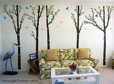 Tree Forest with Birds and Butterflies -  Free Squeegee and color change -  Offi