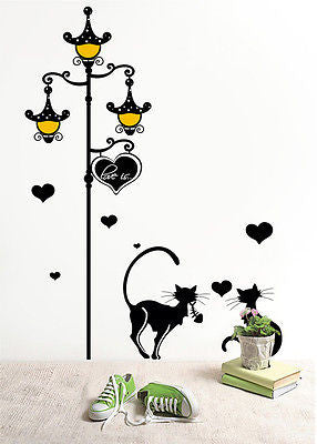 Streetlight and Cats Decal  -  Beautiful Tree Wall Decals for Kids Rooms Teen Gi - PopDecors,Decals, Stickers & Vinyl Art, Pop Decors, PopDecors