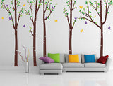 Tree Forest with Birds and Butterflies-Wall Decal - PopDecors,Decals, Stickers & Vinyl Art, Pop Decors, PopDecors