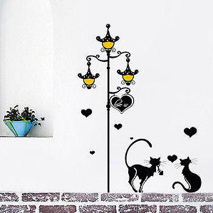 Streetlight and Cats Decal - Beautiful Tree Wall Decals for Kids Rooms Teen Gi - PopDecors  sc 1 st  Pop Decors & Streetlight and Cats- Wall Decal