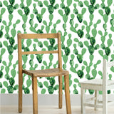 Cactus 2 Nature Wallpaper - Peel and Stick Fabric prt0104 - PopDecors,, PopDecors, PopDecors