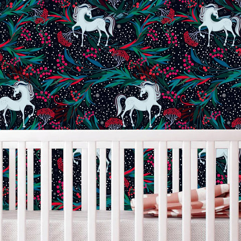 Unicorn Fabric Wallpaper - Kids Room Wall Art prt0105