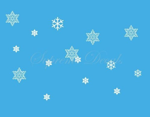 Custom PopDecals - Christmas Decals - Set of 15 Snowflakes - Beautiful Tree Wall Decals for Kids Rooms Teen Girls Boys Wallpaper Murals Sticker Wall Stickers Nursery Decor Nursery Decals - PopDecors,Home, PopDecals, PopDecors