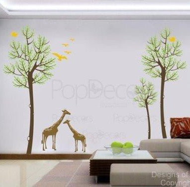 Trees and Giraffes-Wall Decal