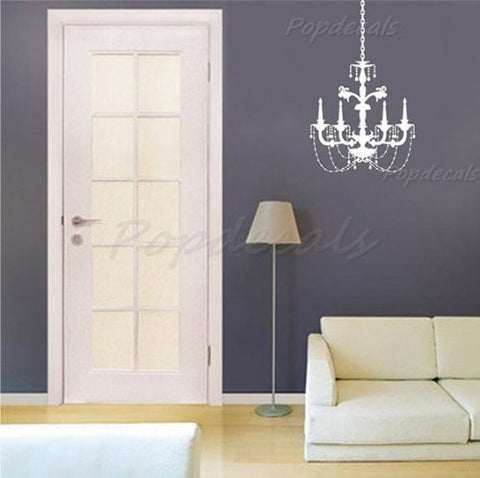 Custom PopDecals - Chandelier C - Beautiful Tree Wall Decals for Kids Rooms Teen Girls Boys Wallpaper Murals Sticker Wall Stickers Nursery Decor Nursery Decals - PopDecors,Baby Product, PopDecals, PopDecors