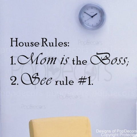 House Rules-Quote Decal - PopDecors,Baby Product, Pop Decors, PopDecors