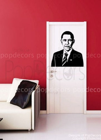 PopDecors - US President Obama decals - Custom Beautiful Tree Wall Decals for Kids Rooms Teen Girls Boys Wallpaper Murals Sticker Wall Stickers Nursery Decor Nursery Decals - PopDecors,Baby Product, Pop Decors, PopDecors