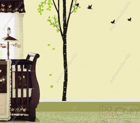 Custom PopDecals - On sale - My Big Birch Tree - 8ft 6 in high - Beautiful Tree Wall Decals for Kids Rooms Teen Girls Boys Wallpaper Murals Sticker Wall Stickers Nursery Decor Nursery Decals - PopDecors,Home, PopDecals, PopDecors