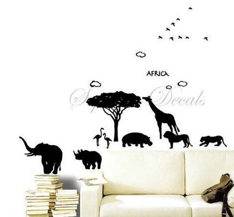 Africa Animals -  Wall Decals - PopDecors,Home, PopDecals, PopDecors